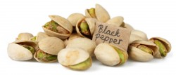 roasted pistachios with black pepper