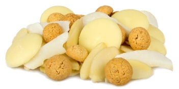 marvellous macaroon - amaretti drops, almond slices, coconut flakes and white chocolate buttons