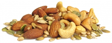 hickory smoked nuts and seeds - roasted sunflower seeds, smoked cashews, smoked almonds and roasted pumpkin seeds