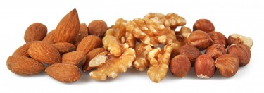 ancient forest nuts - walnuts, hazelnuts and almonds