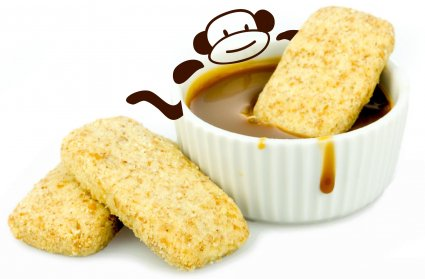 image of wholegrain banoffee dippers