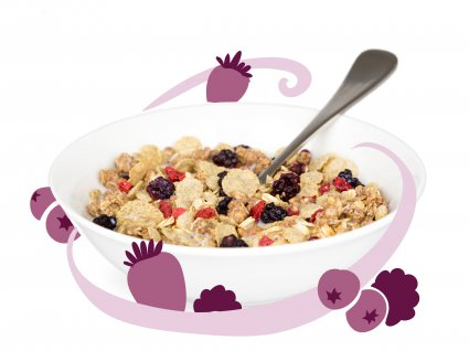image of oaty berry crumble