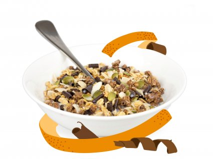 image of dark chocolate orange granola