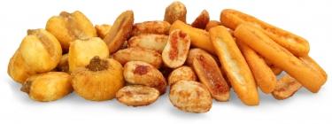 el picante - mini paprika breadsticks, jumbo salted corn and hot chili peanuts
