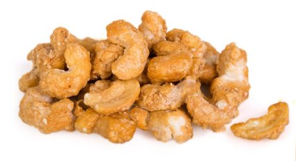 image of honey drizzled cashews