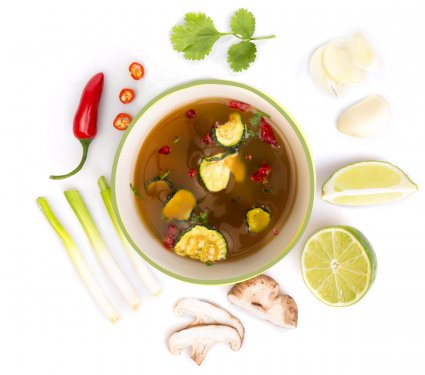 image of Thai tom yum soup
