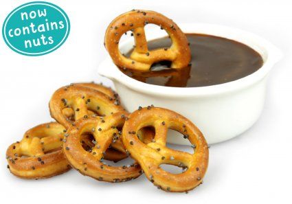 image of chocolate pretzel