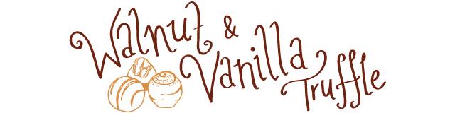 walnut and vanilla truffle