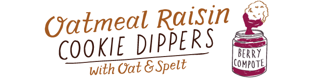 oatmeal raisin cookie dippers
