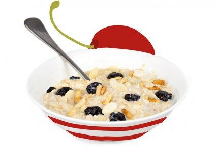 image of cherry and almond porridge