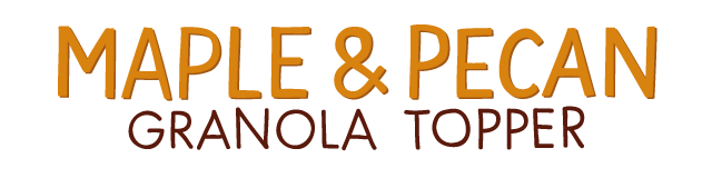 maple and pecan granola topper