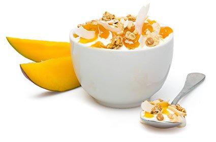 image of mango coconut protein granola topper