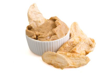 image of rough blend peanut butter with apple