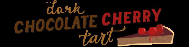 dark chocolate cherry tart