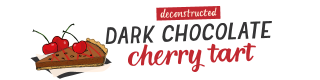 dark chocolate cherry tart