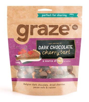 image of dark chocolate cherry tart