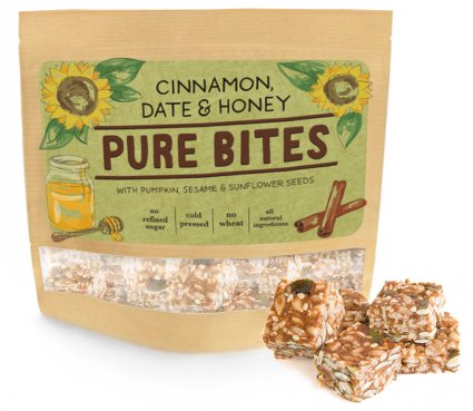 image of cinnamon, date & honey pure bites