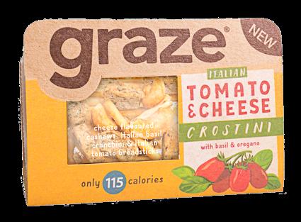 image of tomato and cheese crostini
