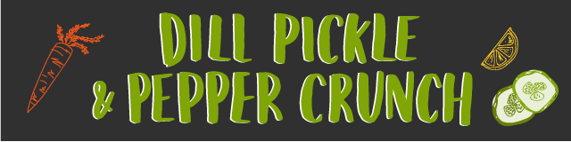 dill pickle and pepper crunch
