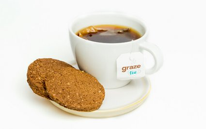 image of cocoa cookies and tea