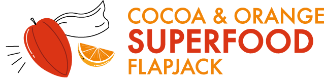 cocoa orange superfood flapjack