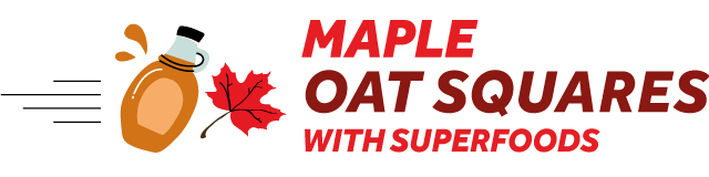maple oat squares with superfood maca