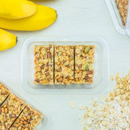 image of banana protein flapjack