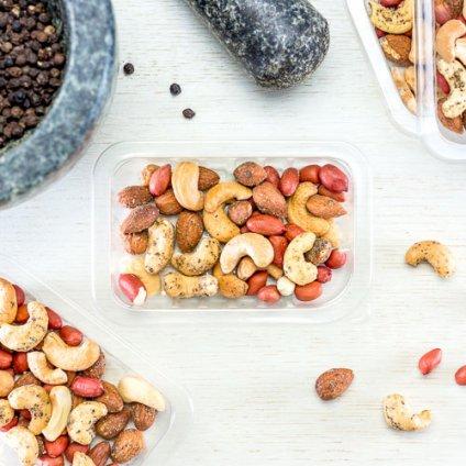 image of cracking black pepper nuts