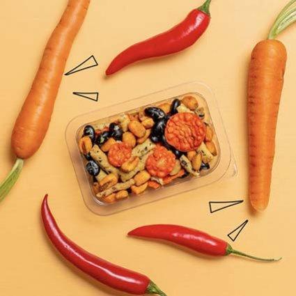 lightly spicy veggie protein power