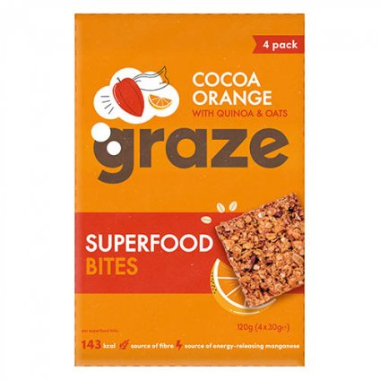 image of superfood bites cocoa orange with quinoa & oats
