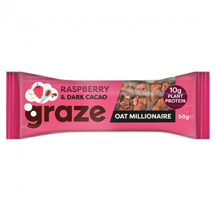 image of raspberry & dark cacao oat millionaire