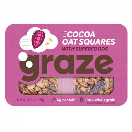 image of cocoa oat squares with superfoods