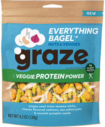 image of everything bagel veggie protein power