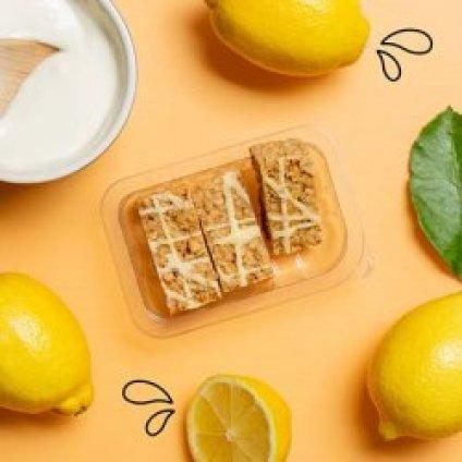 image of lively lemon flapjack