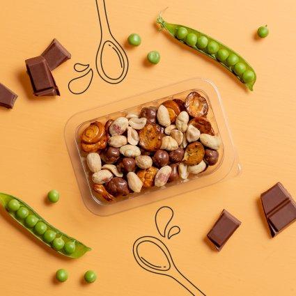 pretzel and peanut chocolate curiosities