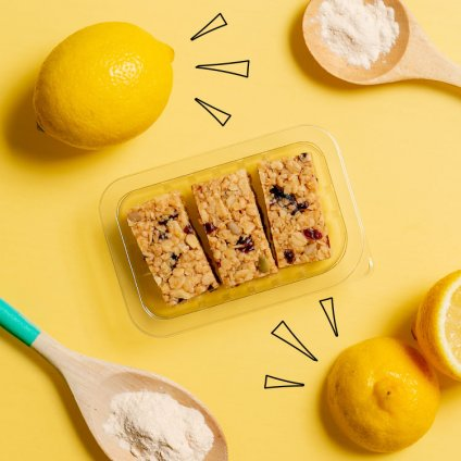 image of lemon blueberry superfood flapjack