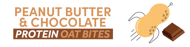 peanut butter and chocolate protein bites