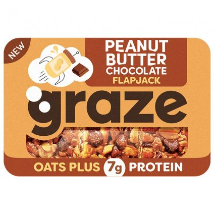 image of peanut butter chocolate protein flapjack