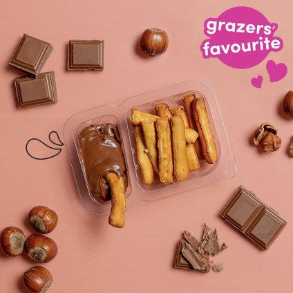 image of cocoa hazelnut pretzel dipper