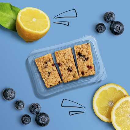 lemon blueberry superfood flapjack
